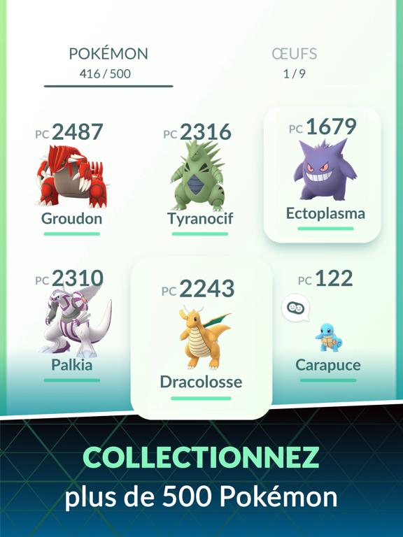 Pokémon GO iPad captures décran