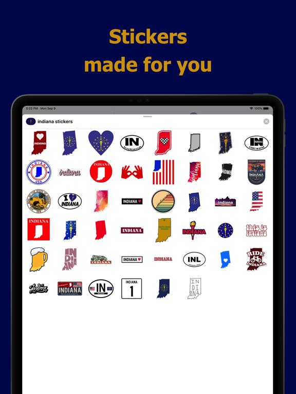 Indiana emojis - USA stickers screenshot 6