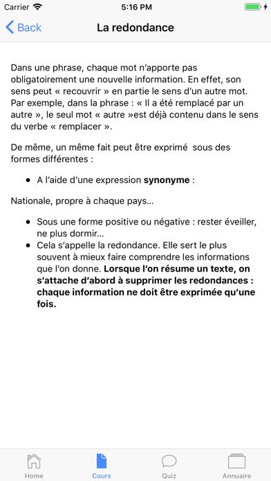 Cours de Français screenshot 7