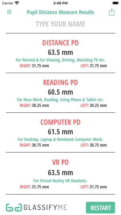 Pupil Distance PD Measure screenshot-5