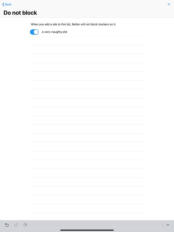 Better Blocker Screenshots