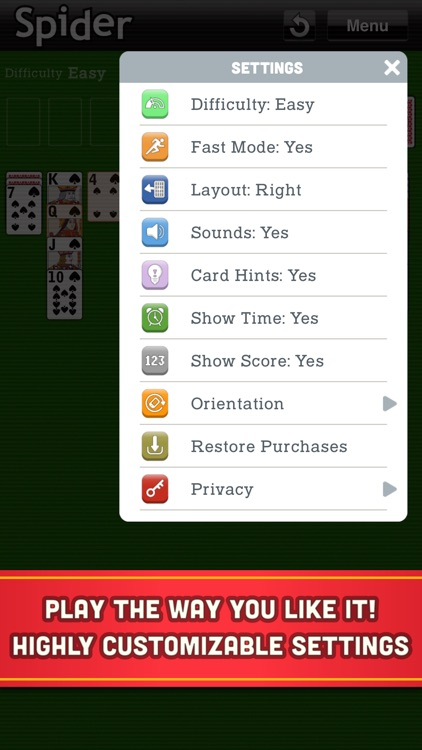 Spider Solitaire Classic Cards screenshot-4