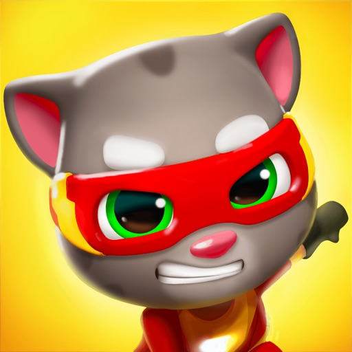 Download Talking Tom Hero Dash free for iPhone, iPod and iPad