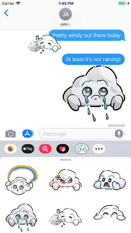 Oliver Cast The Cloud Stickers screenshot-3