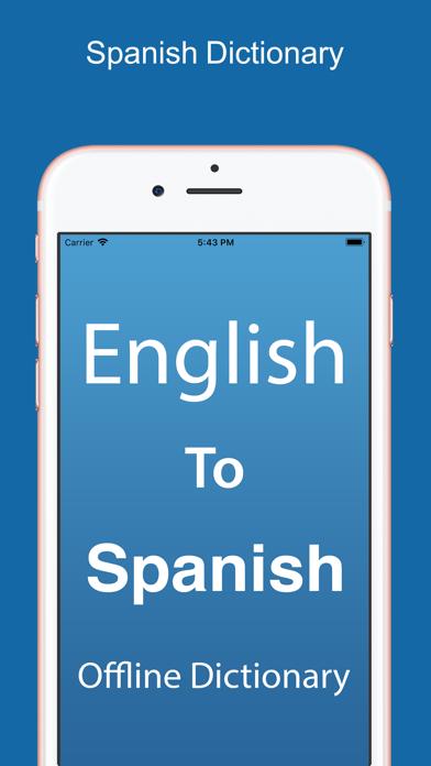 Spanish Dictionary &Translator screenshot one