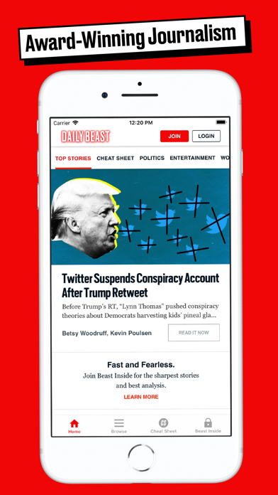 The Daily Beast App Screenshot