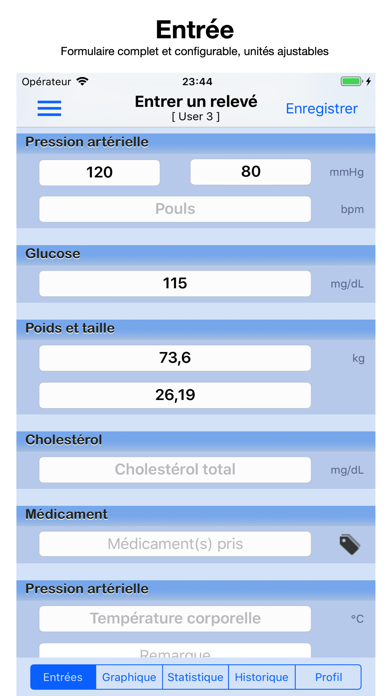 Screenshot #1 pour Dossier santé