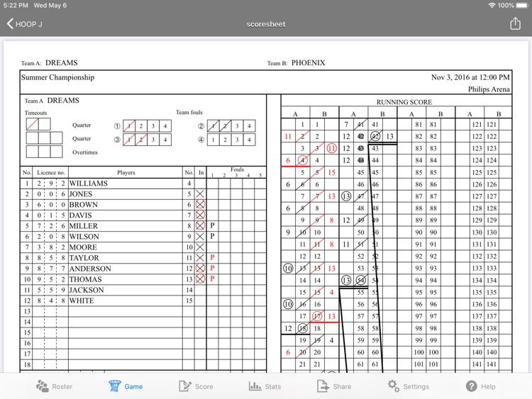 HOOP J for Basketball Scores screenshot-3