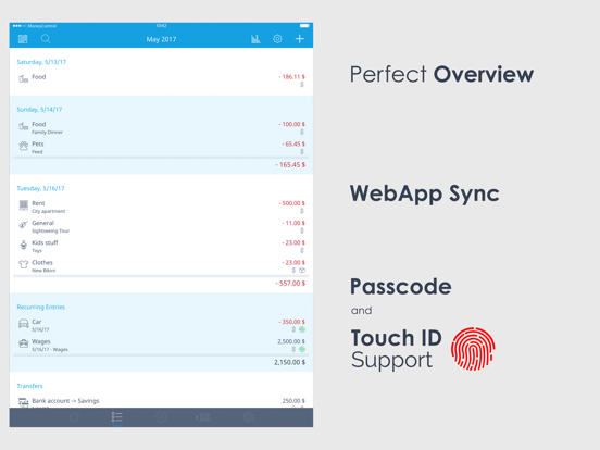 MoneyControl - Income and Expense tracker screenshot