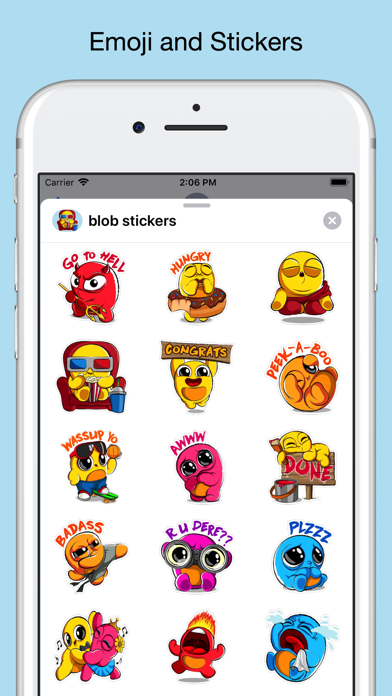 Screenshot for Boo emoji - weird stickers in United States App Store
