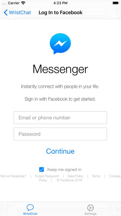 WristChat for Facebook screenshot 6