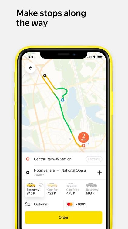 Yandex.Taxi — book a car screenshot-3