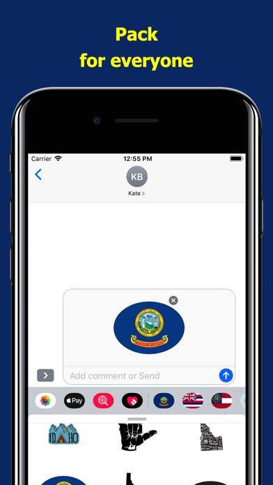 Idaho emojis - USA stickers screenshot 4