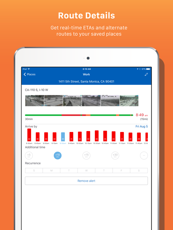 INRIX Traffic Maps, Routes & Alerts screenshot