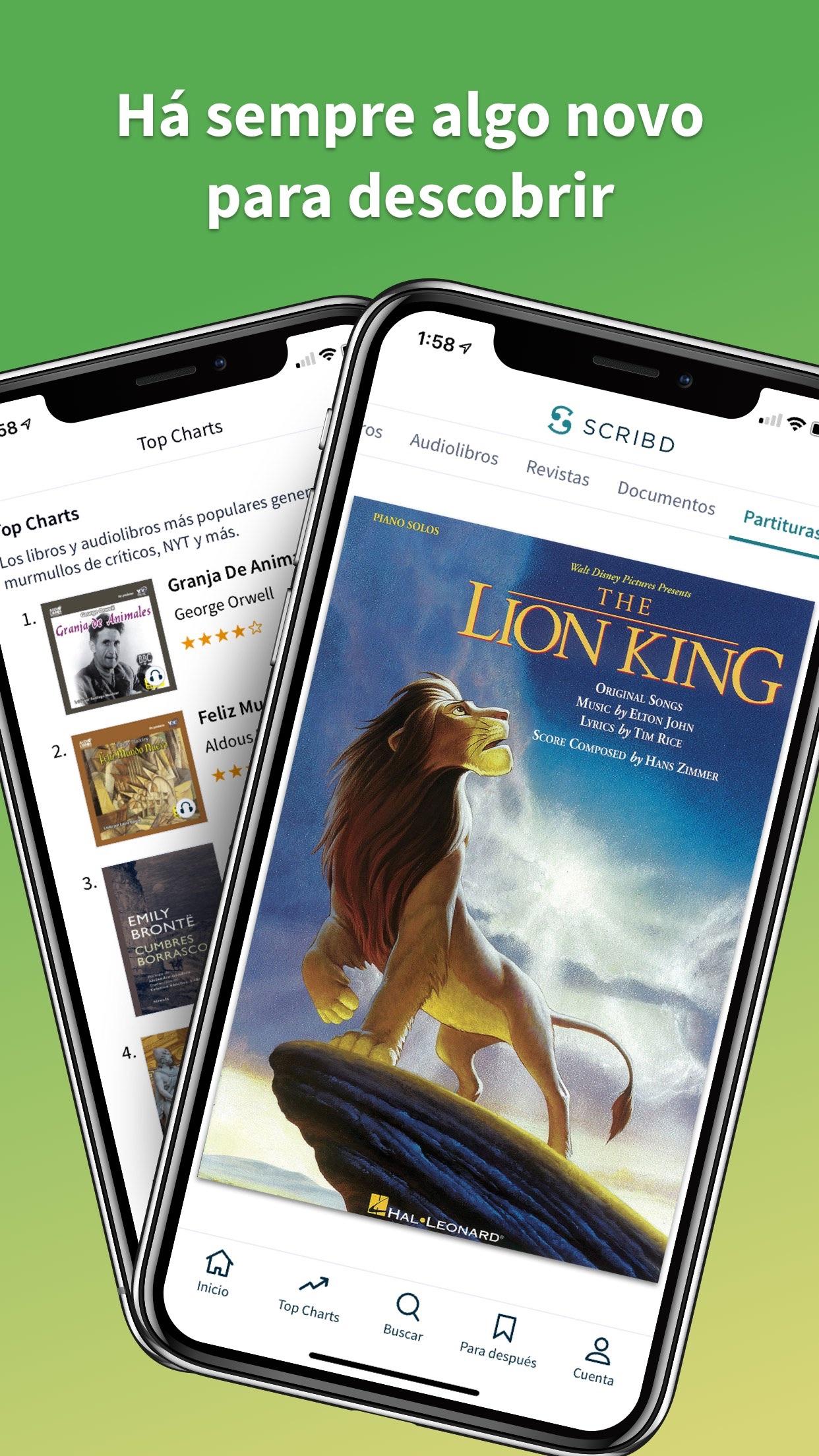Screenshot do app Scribd - audiobooks & ebooks