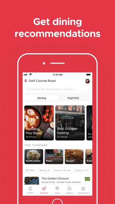 Screenshot #3 pour Zomato - Food & Restaurants