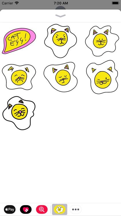 Cat Egg Sticker Pack screenshot-3