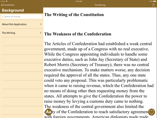 Constitution and Federalist Papers screenshot