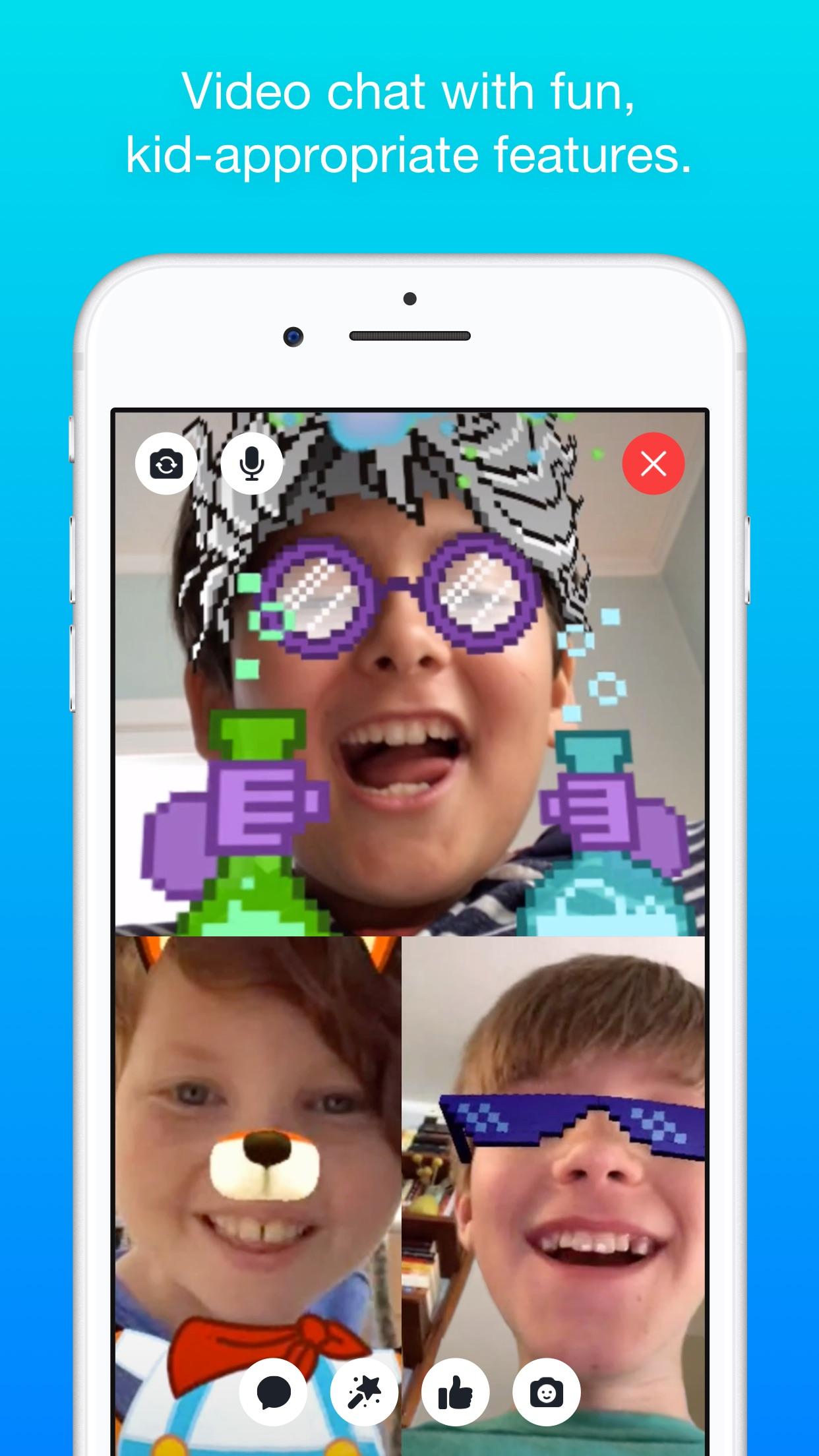 Screenshot do app Messenger Kids