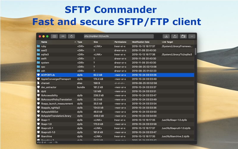 SFTP Commander for Mac