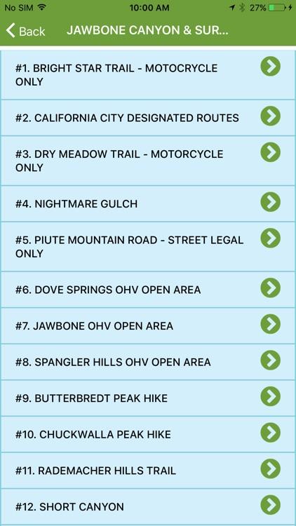 OHV Trail Map California screenshot-4
