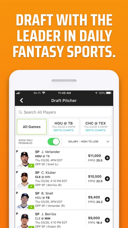 DraftKings Fantasy Sports screenshot-0