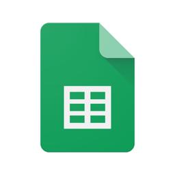 Ícone do app Planilhas Google