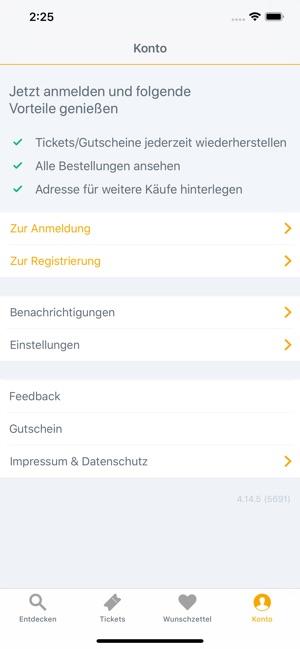 Jochen Schweizer NOW! Screenshot