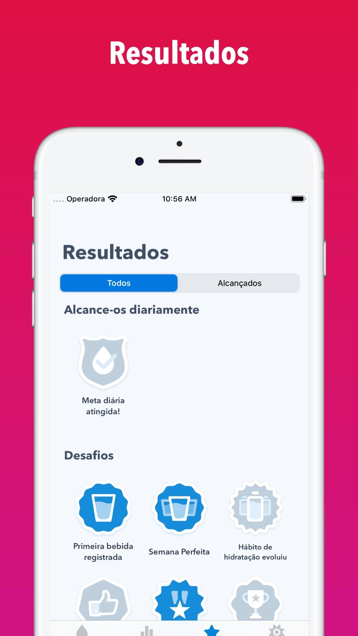 Screenshot do app WaterMinder