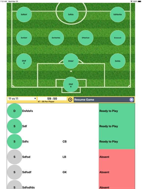 Soccer Substitution Manager screenshot 4