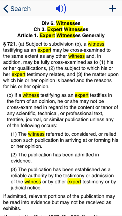 CA Evidence Code 2020 screenshot three