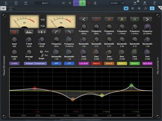Visual EQ Console AUv3 Plugin screenshot 8