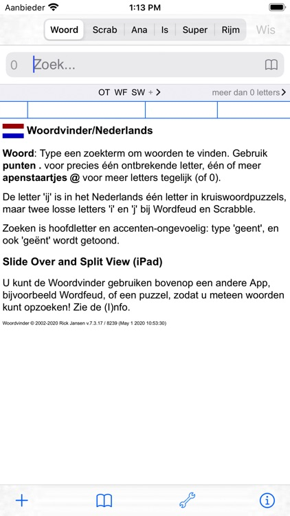 NL Woordvinder Nederlands PRO screenshot-0