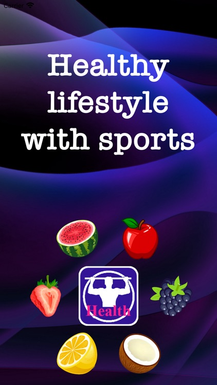 Healthy lifestyle with sports