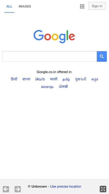 Full Screen Web Browser App