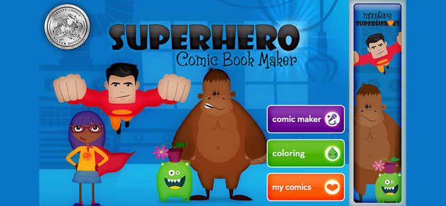 ‎Superhero Comic Book Maker Screenshot