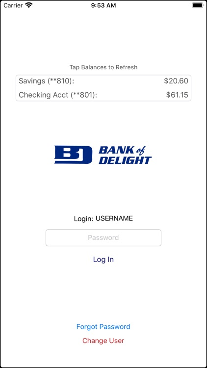 Bank of Delight Mobile Banking