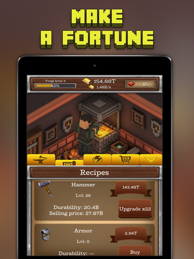 ForgeCraft - Idle Tycoon on the App Store