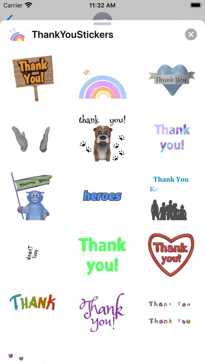 Thank You Stickers Pack