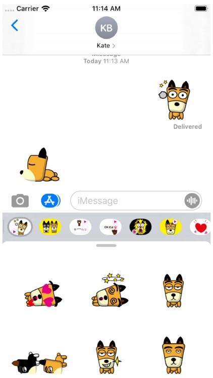 TF-Dog Animation 3 Stickers screenshot-0