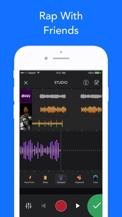 Screenshot for Rapchat: Rap Maker & Studio in Chile App Store