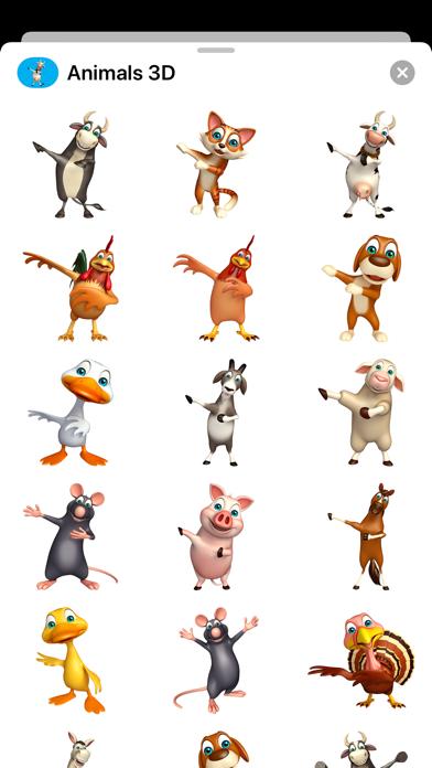 Animal 3D Stickers - Emojis Screenshot