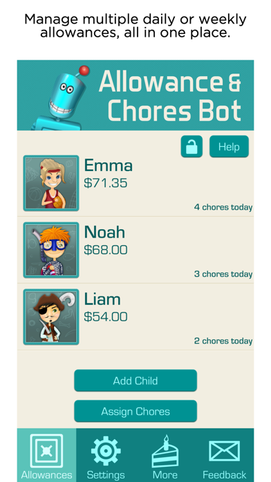 Screenshot for Allowance & Chores Bot in United States App Store