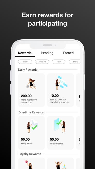 LFEC Wallet Screenshot