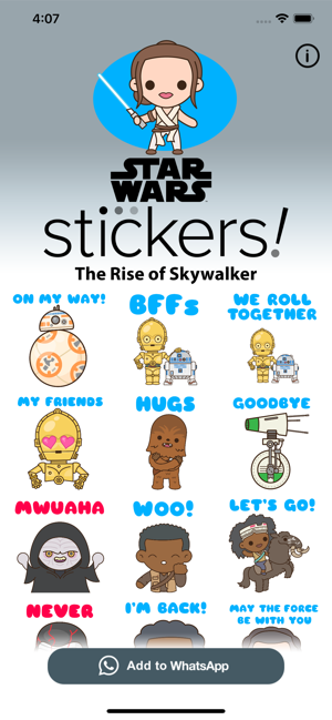 ‎The Rise of Skywalker Stickers Screenshot