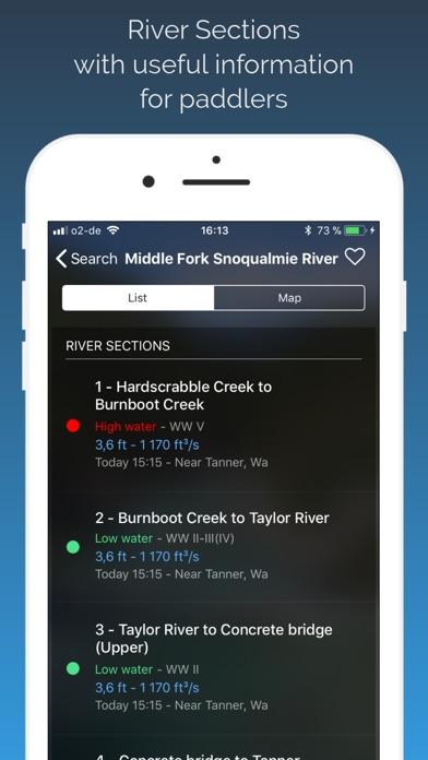 RiverApp - River levels Screenshot