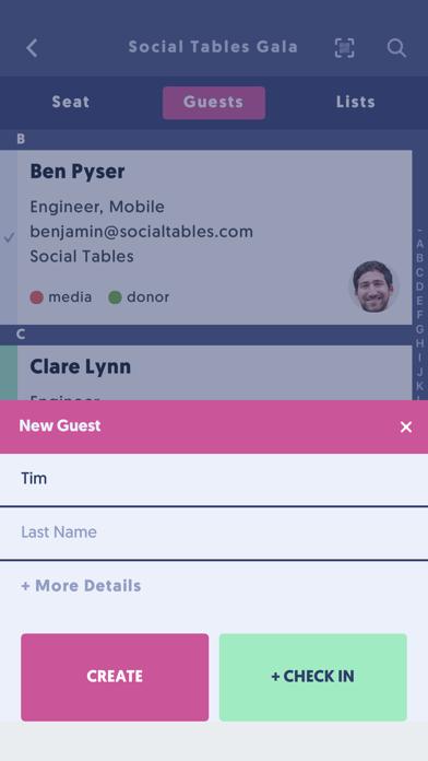 点击获取Check-In by Social Tables