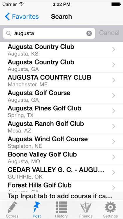 Golf Handicap Tracker & Scores screenshot-3