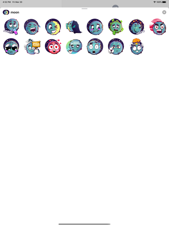 Moon stickers for iMessage screenshot 2