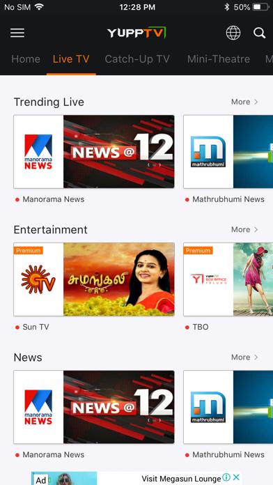 Screenshot #2 pour YuppTV - Live TV & Movies